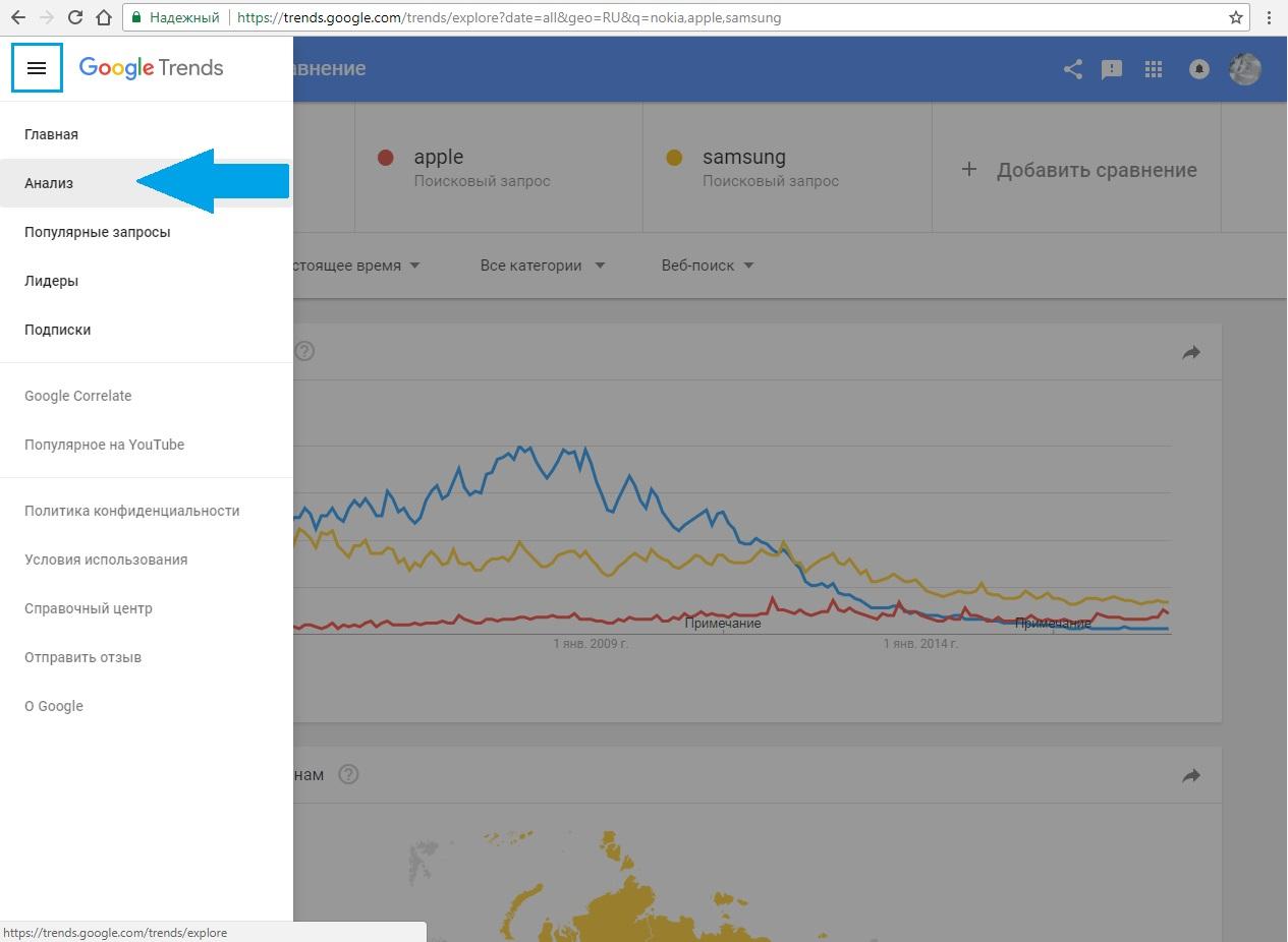 Что такое Google Trends и как им пользоваться? 19 - lenium.ru