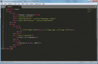sublime text 3 html site