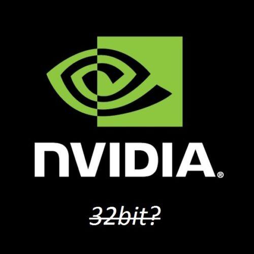 NVIDIA отказывается от 32 битных операционных систем