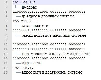 Что такое ip-адрес, маска подсети, хост, адрес сети 1 - lenium.ru