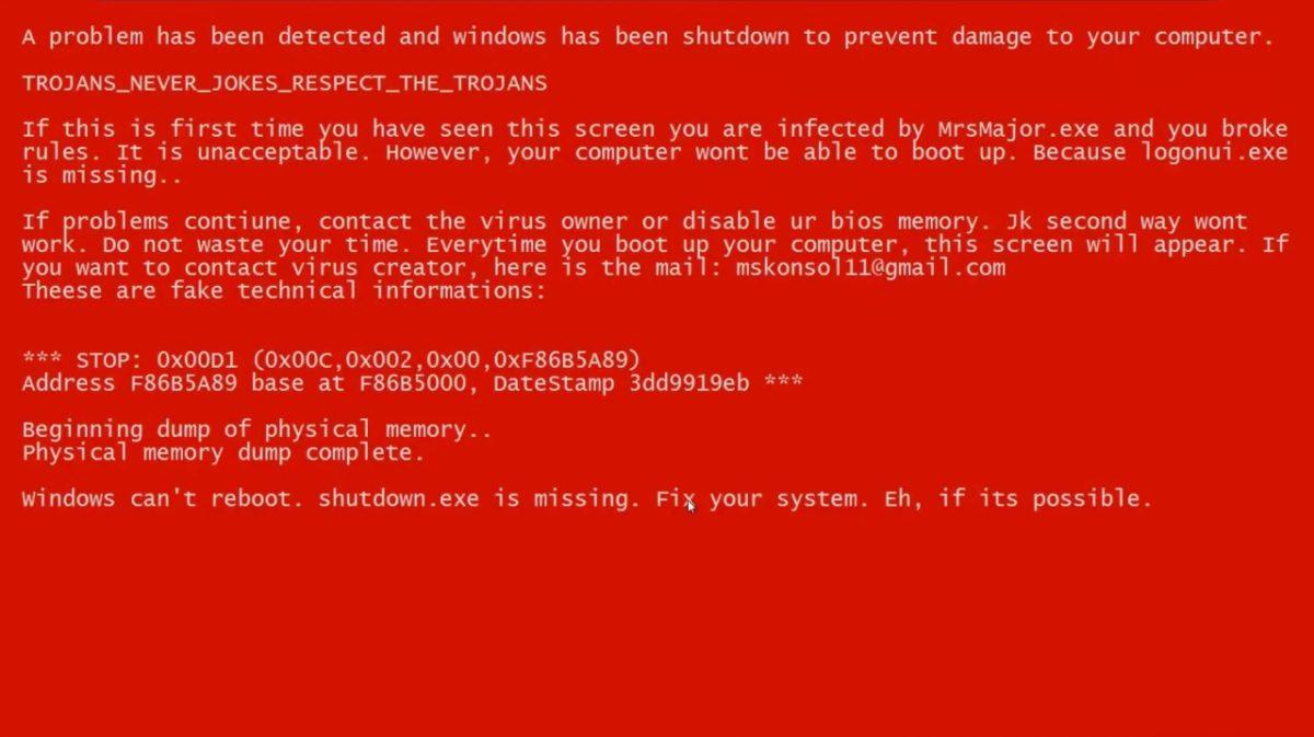 MrsMajor 2.0.exe (BossDaMajor) - страшный вирус-троян с красным экраном 12 - lenium.ru
