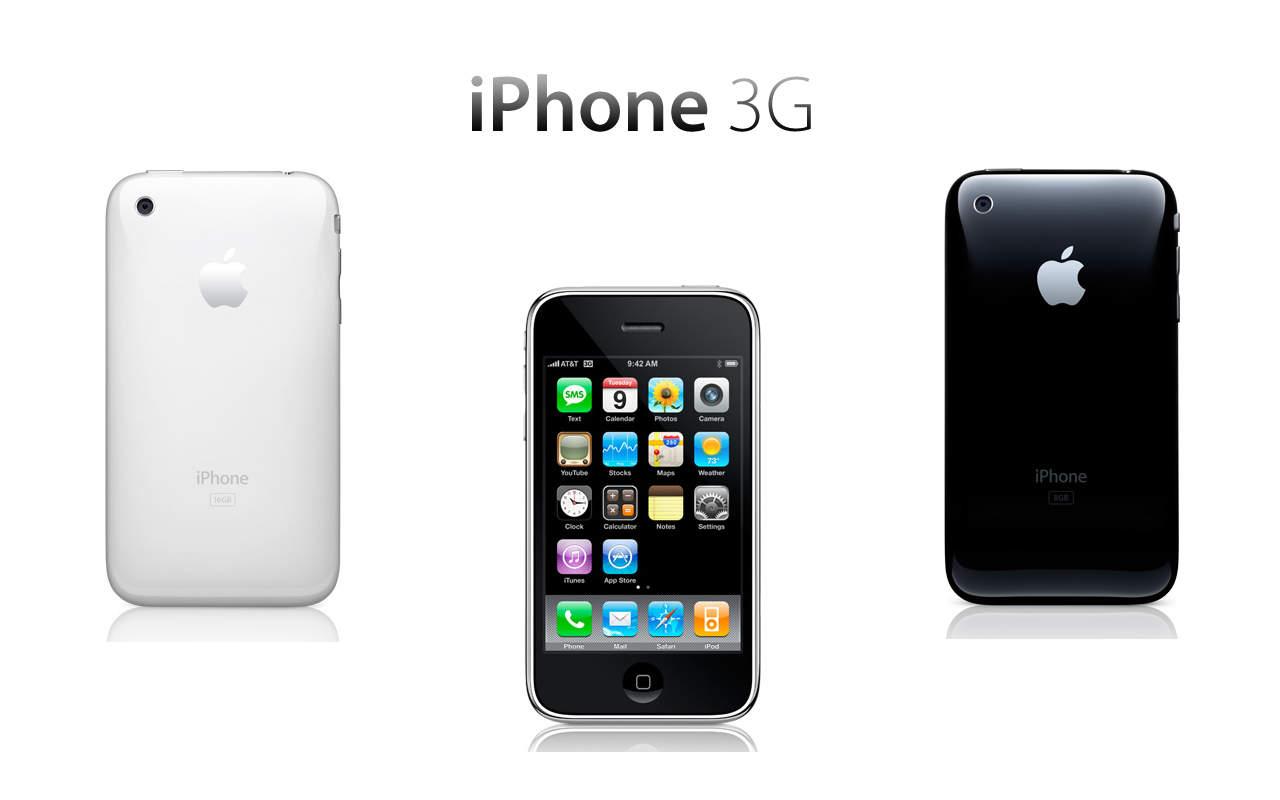 iPhone 3g, варианты - белый и чёрный